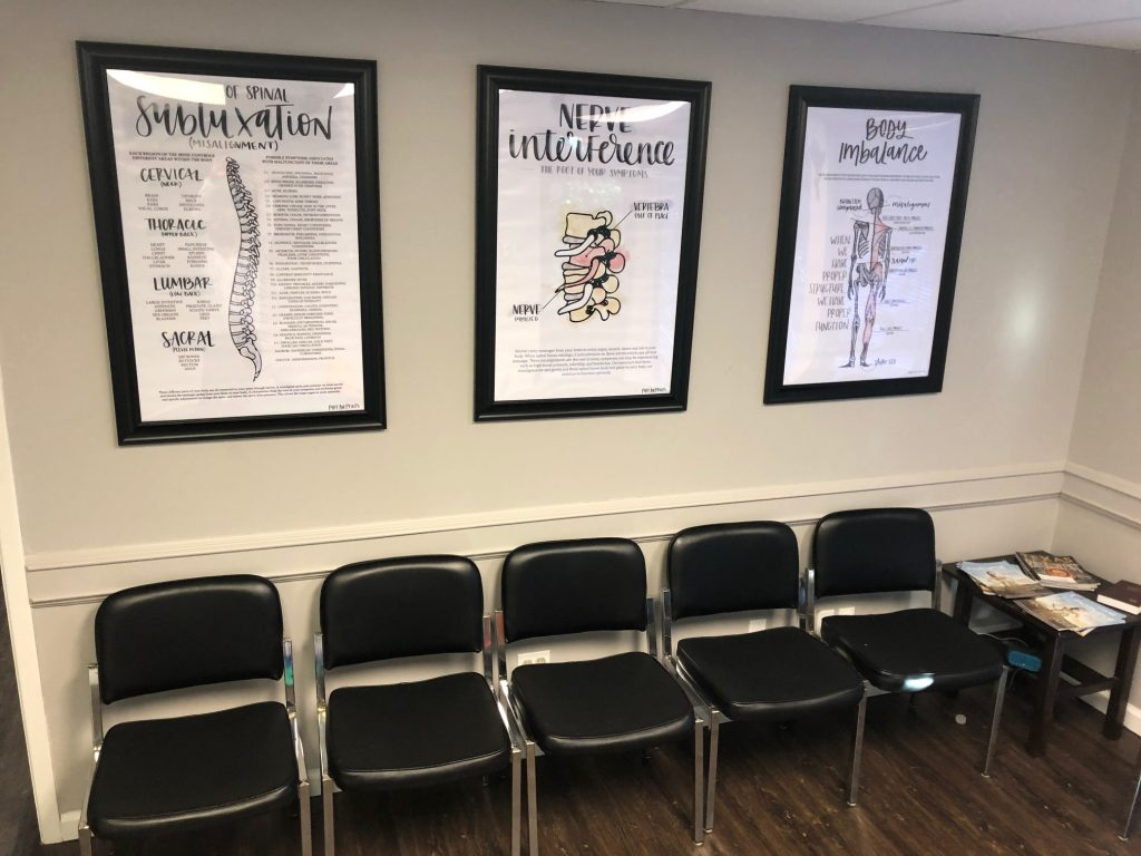 clear creek chiropractic center waiting room